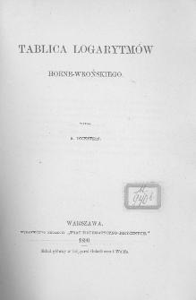 Tablica logarytmów Hoene-Wrońskiego
