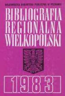 Bibliografia Regionalna Wielkopolski: 1983