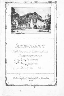 Sprawozdanie Państwowego Gimnazjum Humanistycznego im. Św. Barbary w Chodzieży za czas od 1922-1929 r.