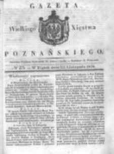 Gazeta Wielkiego Xięstwa Poznańskiego 1838.11.23 Nr275
