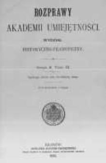 Rozprawy Akademii Umiejętności. Wydział Historyczno-Filozoficzny. Serya II. 1892. Tom 3
