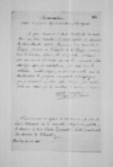 """""""Memorandum adressé le 4 janvier 1877 à M. le comte J. Działyński"""""""