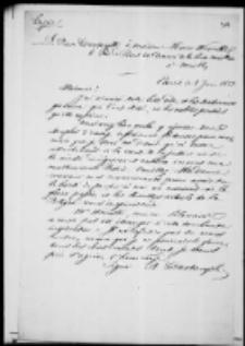 Adam Jerzy Czartoryski do wdowy po Hoene-Wrońskim. List z VI 1852 roku