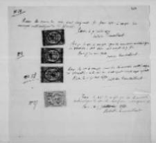 Dokumenty dotyczące sprzedaży dzieł matematycznych Hoene-Wrońskiego Janowi Działyńskiemu