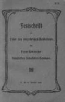 Festschrift zur Feier des 100jaehrigen Bestehens des Posen-Rawitscher Koeniglichen Schullehrer-Seminars 17 bis 19 Oktober 1904