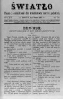 Światło. Pismo z Obrazkami dla Katolickich Rodzin Polskich. 1898 R.12 nr33