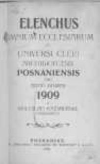 Elenchus Omnium Ecclesiarum et Universi Cleri Archidioecesis Posnaniensis pro Anno Domini 1909 a Boleslao Kaźmierski