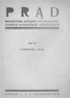 """Prąd. Miesięcznik Związku Polskiej Inteligencji Katolickiej """"Odrodzenie"""". 1930 R.17 nr6"""