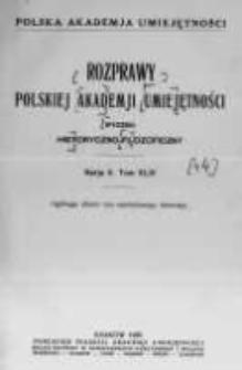 Rozprawy Akademii Umiejętności. Wydział Historyczno-Filozoficzny. Serya II. 1935. Tom 44. Nr. 1-4