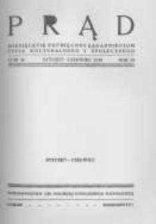 Prąd. Miesięcznik Poświęcony Zagadnieniom Życia Kulturalnego i Społecznego. 1938 R.25 nr1