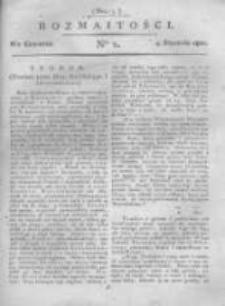 Rozmaitości. Pismo Dodatkowe do Gazety Lwowskiej. 1821 R.1 nr2