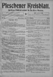Pleschener Kreisblatt: Amtliches Publicationsblatt fuer den Kreis Pleschen 1903.10.10 Jg.51 Nr81