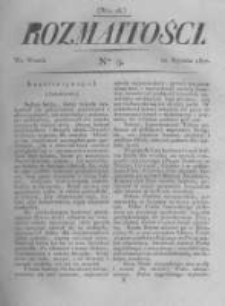 Rozmaitości. Pismo Dodatkowe do Gazety Lwowskiej. 1822 R.2 nr9