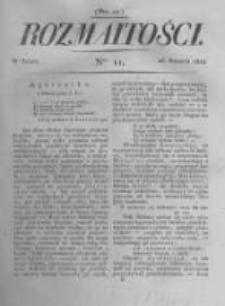 Rozmaitości. Pismo Dodatkowe do Gazety Lwowskiej. 1822 R.2 nr11
