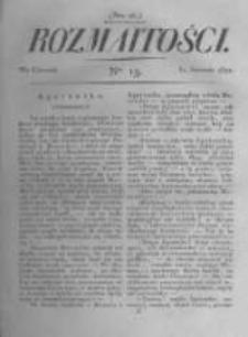 Rozmaitości. Pismo Dodatkowe do Gazety Lwowskiej. 1822 R.2 nr13
