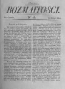 Rozmaitości. Pismo Dodatkowe do Gazety Lwowskiej. 1822 R.2 nr18