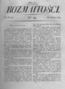 Rozmaitości. Pismo Dodatkowe do Gazety Lwowskiej. 1822 R.2 nr23