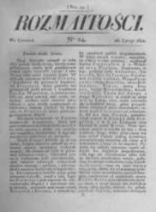 Rozmaitości. Pismo Dodatkowe do Gazety Lwowskiej. 1822 R.2 nr24