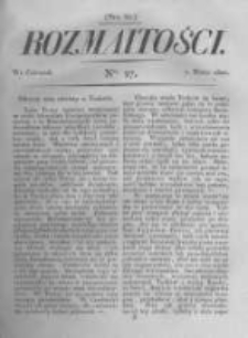 Rozmaitości. Pismo Dodatkowe do Gazety Lwowskiej. 1822 R.2 nr27