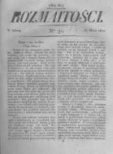 Rozmaitości. Pismo Dodatkowe do Gazety Lwowskiej. 1822 R.2 nr31
