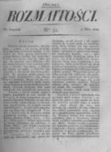 Rozmaitości. Pismo Dodatkowe do Gazety Lwowskiej. 1822 R.2 nr51