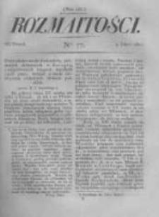 Rozmaitości. Pismo Dodatkowe do Gazety Lwowskiej. 1822 R.2 nr77
