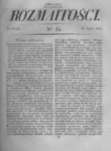 Rozmaitości. Pismo Dodatkowe do Gazety Lwowskiej. 1822 R.2 nr83