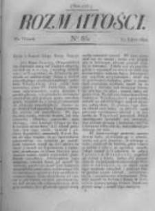Rozmaitości. Pismo Dodatkowe do Gazety Lwowskiej. 1822 R.2 nr86