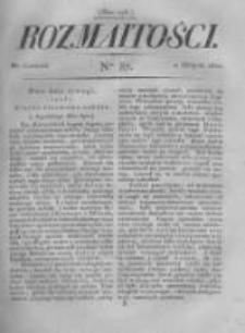 Rozmaitości. Pismo Dodatkowe do Gazety Lwowskiej. 1822 R.2 nr87