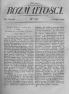 Rozmaitości. Pismo Dodatkowe do Gazety Lwowskiej. 1822 R.2 nr90