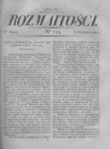 Rozmaitości. Pismo Dodatkowe do Gazety Lwowskiej. 1822 R.2 nr114