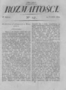 Rozmaitości. Pismo Dodatkowe do Gazety Lwowskiej. 1822 R.2 nr147