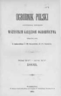Ogrodnik Polski. 1893 R.15 nr1