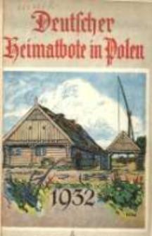 Deutscher Heimatbote in Polen: Jahrbuch des Deutschen Volkstums in Polen: Kalender für 1932 Jg.11