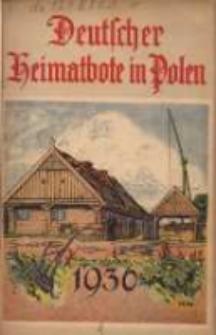 Deutscher Heimatbote in Polen: Jahrbuch des Deutschen Volkstums in Polen: Kalender für 1936 Jg.15