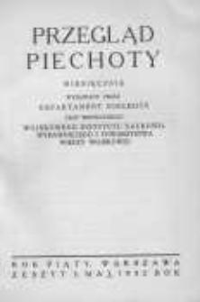 Przegląd Piechoty: miesięcznik wydawany przez Departament Piechoty przy współudziale Wojskowego Instytutu Naukowo-Wydawniczego i Towarzystwa Wiedzy Wojskowej 1932 maj R.5 Z.5