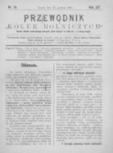 """Przewodnik """"Kółek rolniczych"""". R. XIV. 1900. Nr 24"""