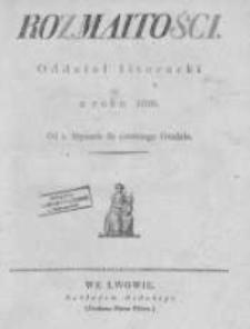 Rozmaitości. Pismo Dodatkowe do Gazety Lwowskiej. 1826 R.6 nr1