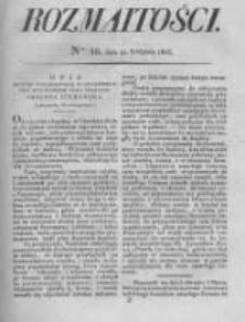 Rozmaitości. Pismo Dodatkowe do Gazety Lwowskiej. 1826 R.5 nr16