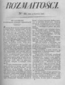 Rozmaitości. Pismo Dodatkowe do Gazety Lwowskiej. 1826 R.5 nr22