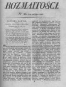 Rozmaitości. Pismo Dodatkowe do Gazety Lwowskiej. 1826 R.5 nr28