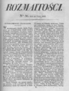 Rozmaitości. Pismo Dodatkowe do Gazety Lwowskiej. 1826 R.5 nr30