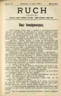 Ruch: dwutygodnik poświęcony sprawom wychowania fizycznego i w ogóle normalnego rozwoju ciała 1909.03.11 R.4 No.5=71
