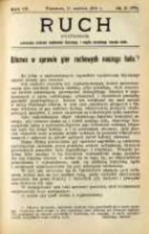 Ruch: dwutygodnik poświęcony sprawom wychowania fizycznego i w ogóle normalnego rozwoju ciała 1909.06.11 R.4 No.11=77