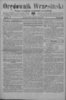 Orędownik Wrzesiński: organ urzędowy na powiat wrzesiński 1934.02.27 R.16 Nr24