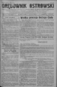Orędownik Ostrowski: pismo na powiat ostrowski i miasto Ostrów, Odolanów, Mikstat, Sulmierzyce, Raszków i Skalmierzyce 1938.06.17 R.87 Nr72