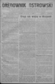 GazetyOrędownik Ostrowski: pismo na powiat ostrowski i miasto Ostrów, Odolanów, Mikstat, Sulmierzyce, Raszków i Skalmierzyce 1938.07.22 R.87 Nr87