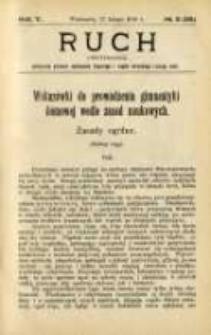 Ruch: dwutygodnik poświęcony sprawom wychowania fizycznego i w ogóle normalnego rozwoju ciała 1910.02.11 R.5 No.3=93