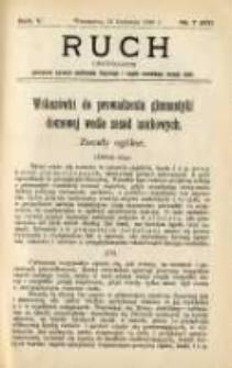 Ruch: dwutygodnik poświęcony sprawom wychowania fizycznego i w ogóle normalnego rozwoju ciała 1910.04.11 R.5 No.7=97