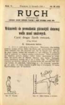 Ruch: dwutygodnik poświęcony sprawom wychowania fizycznego i w ogóle normalnego rozwoju ciała 1910.11.11 R.5 No.21=111